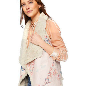 BB Dakota | Ultra Soft Floral Sherpa Wubby Vest